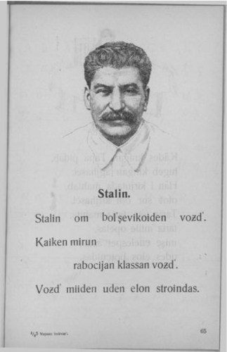 stalin om bolshevikoiden vozd