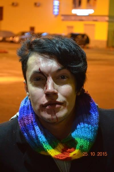 Petersburg LGBT activist Dante Teodori