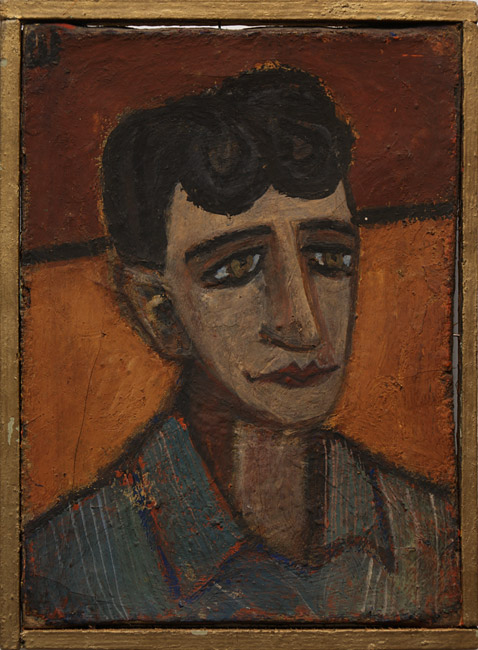 Sholom Shvarts, Portrait of Roald Mandelstam, 1958. Tempera on canvas, 33 x 24 cm. Collection of Valentin Gromov