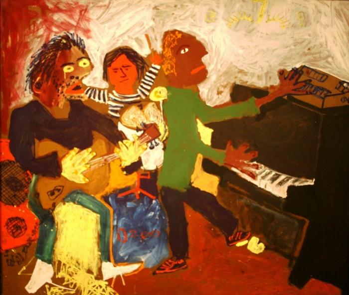 Concert, 1983. Oil on fiberboard, 121 x 143 cm. Courtesy Russian Museum