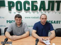 Striking Petesburg truckers Oleg Krutskhikh and Alexei Zhatko