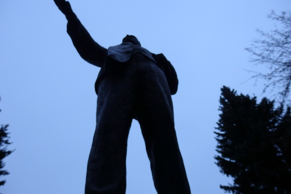 Monument to Lenin, Detskoe Selo State Farm, November 8, 2015. Photo by the Russian Reader