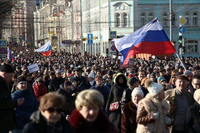 Nemtsov Memorial March, Moscow, February 27, 2016. Photo by and courtesy of Anatrra