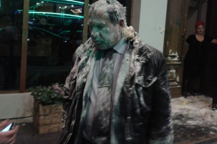 Igor Kalyapin, after he was assaulted by a mob on March 16