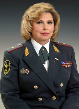 Police Major General Tatyana Moskalkova, Russia's newly minted federal human rights ombudsman. Photo courtesy of zampolit.com