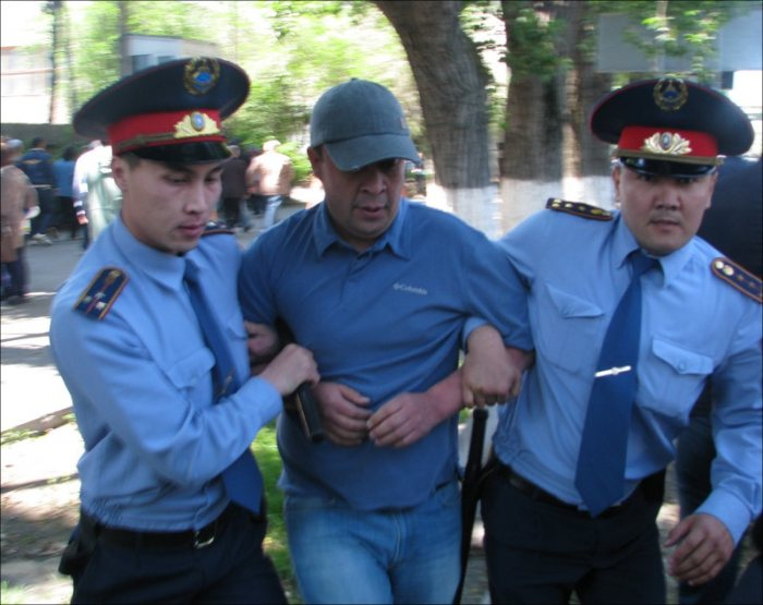 Police detain land protester in Almaty