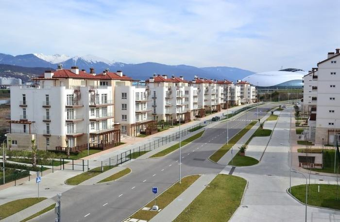 Sochi Olympic Village. Photo courtesy of Nikita Kulachenkov