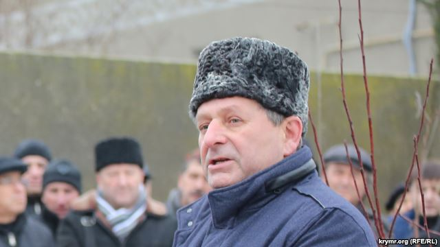 "Ahtem Chiygoz, a member of the Mejlis of the Crimean Tatars who has spent the last year and a half in jail on trumped-up charges of ""organizing rioting"" and ""destruction of property."" Photo courtesy of 112 UA and RFE/RL"