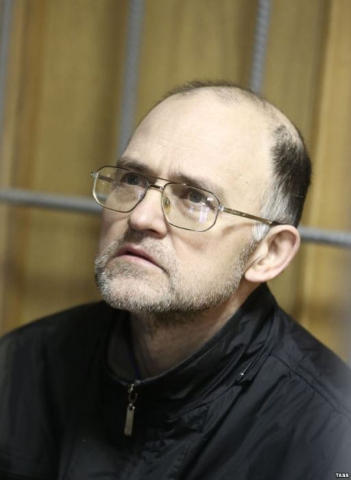 Sergei Krivov during a hunger strike, Nikulinsky District Court, Moscow, November 2013. Photo courtesy of TASS and Radio Svoboda