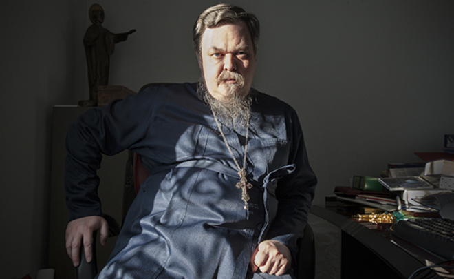 Father Vsevolod Chaplin. Photo courtesy of Realnoye Vremya and Anna Artemieva (novayagazeta.ru)