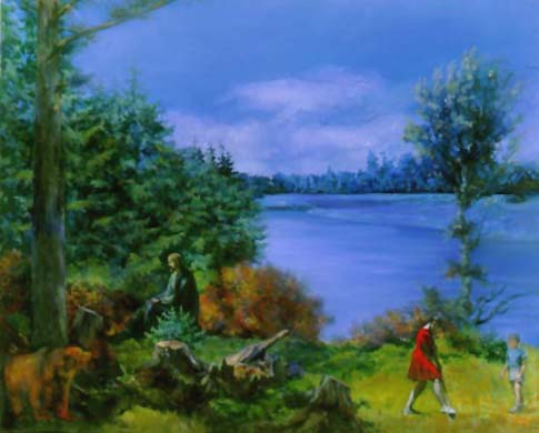 Komar & Melamid, Russia's Most Wanted Painting, 1995. Image courtesy of Dia Art Foundation