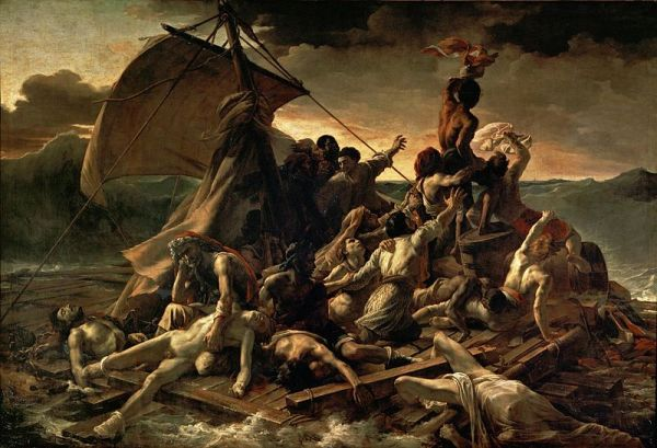 Théodore Géricault, The Raft of the Medusa, 1818-1819. Oil on canvas, 491 cm x 716 cm. Louvre Museum, Paris. Image courtesy of Wikipedia