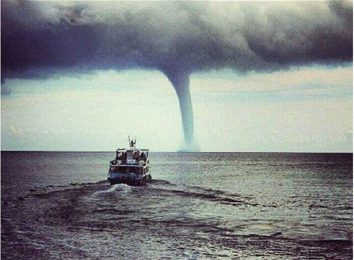 Waterspout on the Gulf of Finland, June 16, 2016. Photo courtesy of Nation News