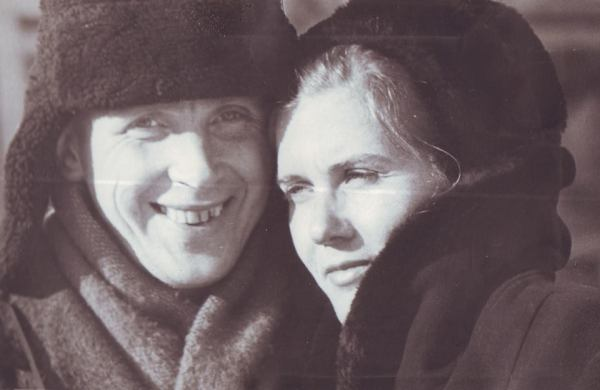 Sergey Khakhayev and his wife Valeria Chikatuyeva, Ust-Abakan, 1970s