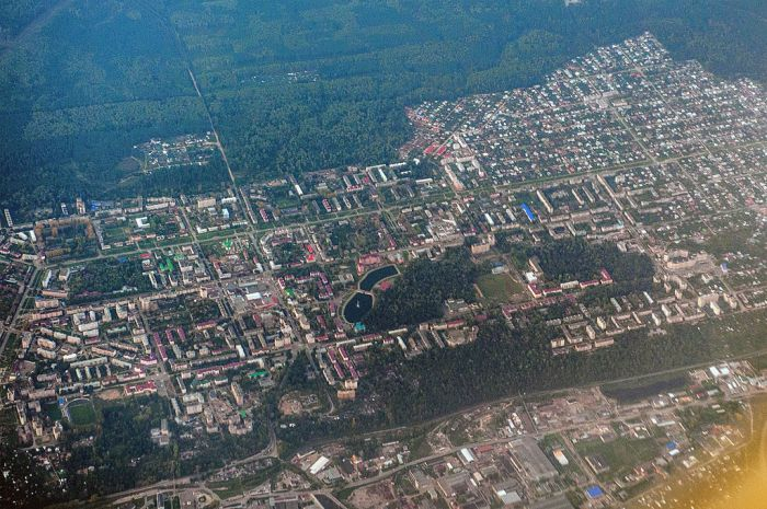 Aerial view of Zelenodolsk, Tatarstan. Photo courtesy of Wikipedia