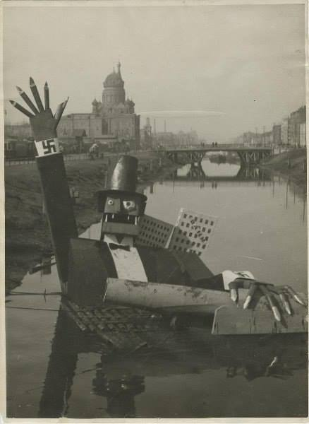 E.I. Liskovich, Capitalism in the Grips of Crisis, 1932. May Day installation on the Obvodny Canal, Leningrad