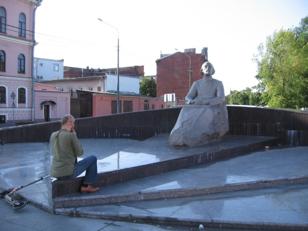 Monument to Konstantin Tsiolkovsky, Petersburg, July 18, 2015