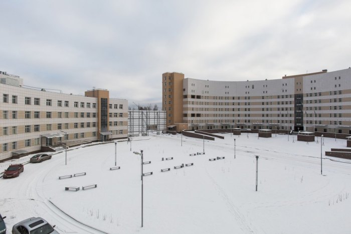 A view of the new campus of the Botkin Infectious Diseases Hospital in Petersburg. Photo courtesy of Dima Tsyrencshikov/The Village