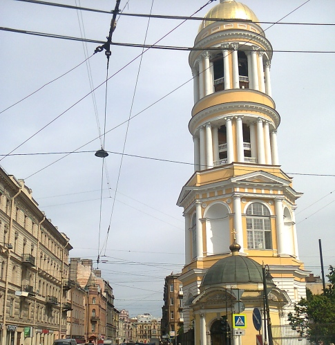 Belfry of Our Lady of Vladimir Cathedral, Petersburg, June 15, 2016. Photo by TRR