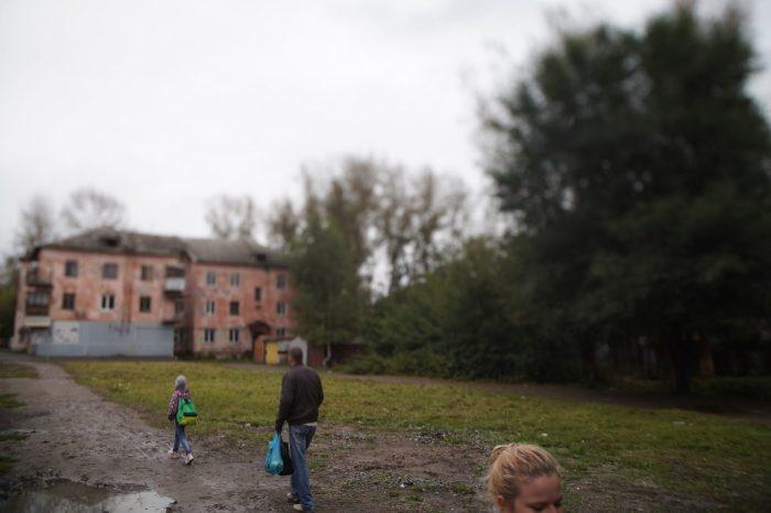 Пустырь на месте рухнувшего дома в 2013 году