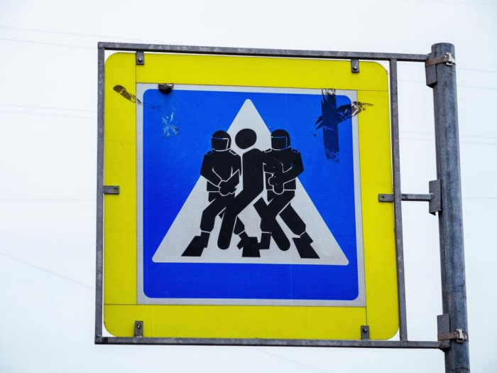 traffic sign in spb