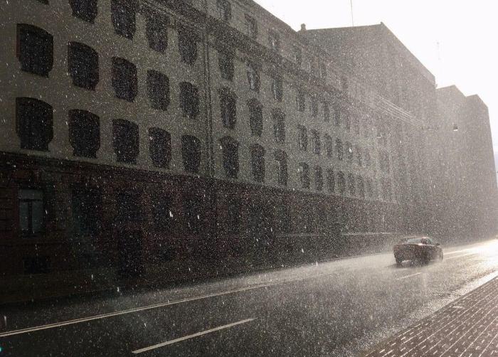 sunny downpour